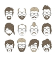 hairstyles with a beard and mustache vector image