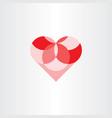 heart geometric circles element design vector image