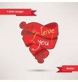 I love you T-Shirt Design Template for your design vector image