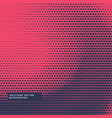 red background with blue halftone dots vector image