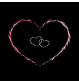 Red heart icon grunge 2 vector image