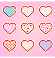 Valentines day greeting card on ornate background vector image