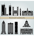 Montreal landmarks and monuments vector