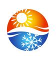 Air conditioning logo symbol vector image vector image