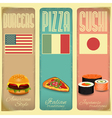Vintage Menu Card for Fast Food vector image vector image