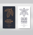 cocoa package template vector image