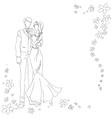 wedding couple vector image vector image