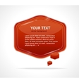 Abstract speech bubble red vector image vector image