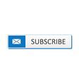 Subscribe button vector image