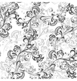 Seamless floral pattern black and white 1 vector image vector image