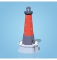Low poly lighthouse vector image