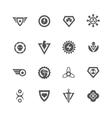 Superheroes black badges vector image
