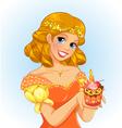 birthday princess vector image