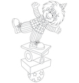 Clown equilibrist vector image