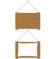 wooden board 02 vector image vector image