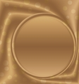 gold metal picture frame at the bottom vector image