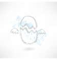 Flying egg grunge icon vector image vector image