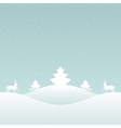 Christmas retro winter lanscape and trees vector image vector image