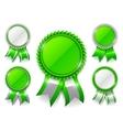 Green Award Medals vector image