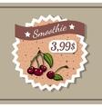 Smoothie Sticker 7 vector image