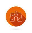 Lungs icon Transplantation organ sign vector image