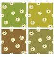 apple pattern vector image
