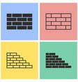 brick wall icon set vector image