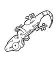 Cartoon cute gecko coloring page vector image