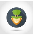 Leprechaun face icon vector image