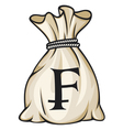 Money Bag with Swiss franc Symbol vector image