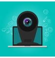online camera webcam security surveillance vector image