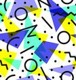 Retro 80s pattern background vector image