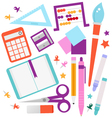 School accessories set isolated on white vector image
