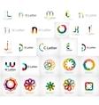 Set of various universal company logos vector image