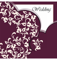 Wedding invitation card with ornaments vector image