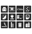 Black Print industry Icons vector image vector image
