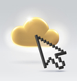 Golden digital cloud vector