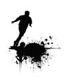 Grunge footballer vector image vector image