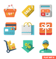 Shopping icon set for Web and Mobile Application vector image vector image