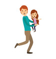 colorful image caricature full body man carrying a vector image