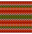Red zigzag stripes knit seamless pattern vector image vector image