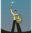 businessman knight vector image