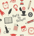back to school patern4 vector image