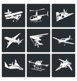 Aaircrafts Icons Set vector image
