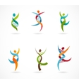 DNA genetic symbol - people man and woman icon vector image vector image