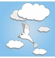 bird flying in the sky vector image