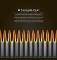 bullet background vector image