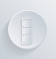 circle icon with a shadow charged battery vector image