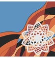 Cover Print Decorative retro for banner vector image