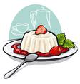 dessert with cream vector image